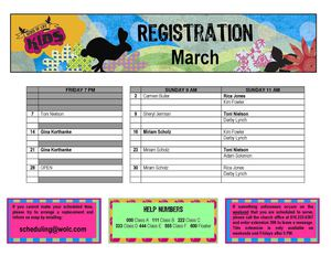 March Registration