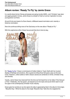 Album review Ready To Fly by Jamie Grace