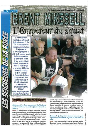 "Interview Brent Mikesell - Emmanuel Legeard French ""Emperor Of Squats"""