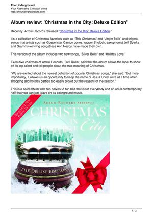 Album review Christmas in the City Deluxe Edition