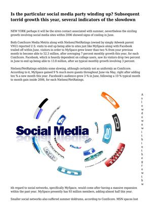 Is the particular social media party winding up? Subsequent torrid growth this year, several indicators of the slowdown
