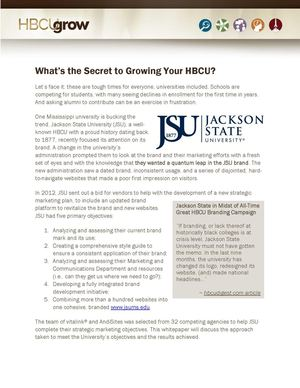The Secret to Growing Your HBCU