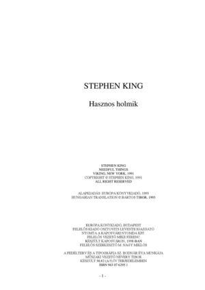 cc6557f2b6 Calaméo - Stephen King - Hasznos holmik