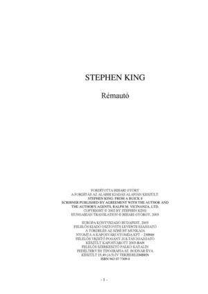 Calaméo - Stephen King - Rémautó 5b0ccf56ef