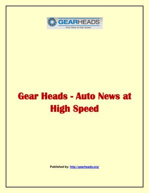 Gear Heads - Auto News at High Speed
