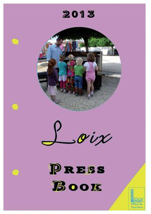 Press Book Office de Tourisme de Loix 2013