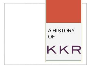 A History of KKR