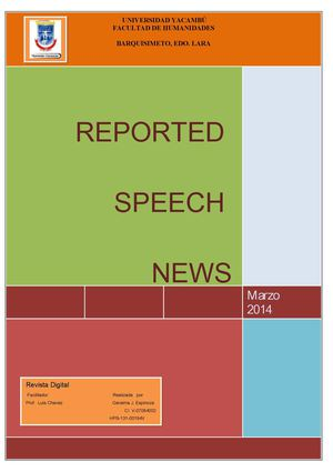 GeraimaEspinoza Reported Speech