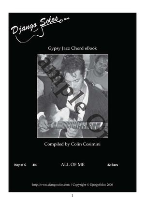 ALL OF ME Gipsy Jazz Chords