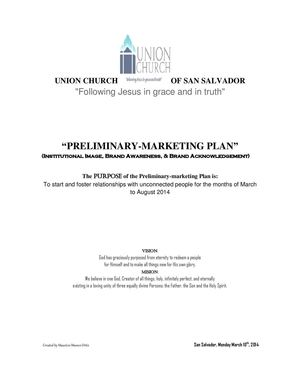 Prelimery MARKETING PLAN 2014 UCS