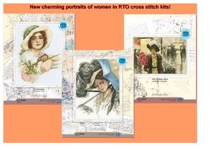 New charming portraits of women in RTO cross stitch kits