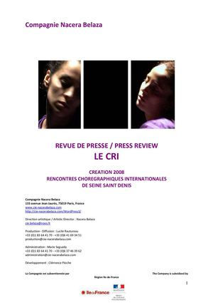 Revue de presse Press Review Le Cri Cie