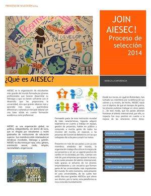 Booklet Recruitment AIESEC Bellaterra 14-15
