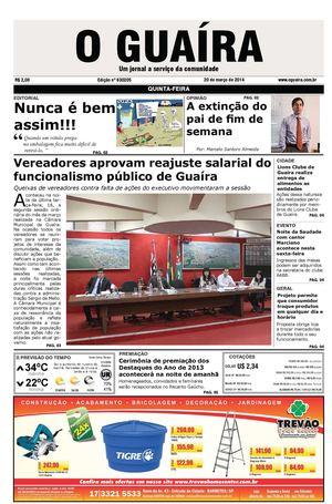 fa4dce0853b89 Calaméo - Jornal O Guaíra de 20 de março de 2014