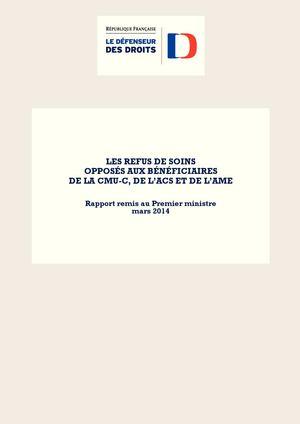 Calameo Les Refus De Soins Opposes Aux Beneficiaires De La Cmu C