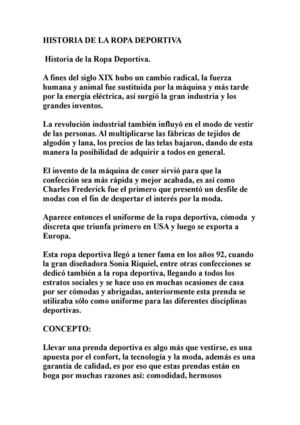 3b9c3d2894c Calaméo - Historia De La Ropa Deportiva
