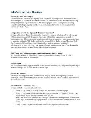 Calaméo - Salesforce Interview Questions
