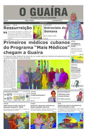 08462c469ddbe Calaméo - Jornal O Guaíra de 20 de janeiro de 2014