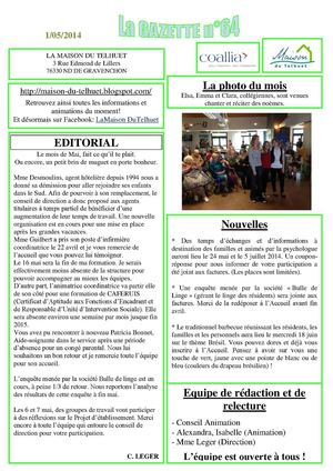 gazette n°64 mai  2014 - Copie
