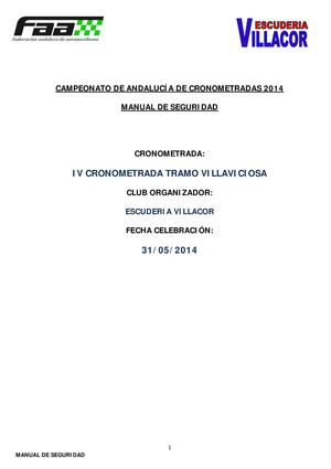 manual de seguridad cronometrada villaviciosa 2014