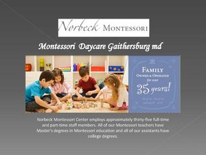 Montessori Daycare Gaithersburg md