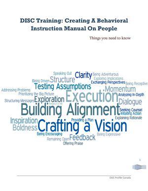 calaméo disc training creating a behavioral instruction manual on