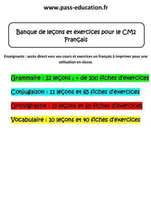 Calameo Grammaire Exercices Cm2