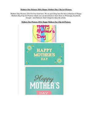 Mothers Day Pictures 2014, Happy Mothers Day Clip Art Pictures