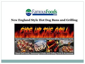 New england style hot dog buns and Grilling