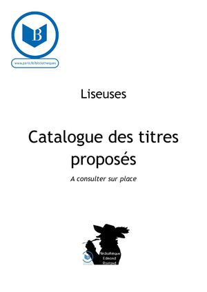 Catalogue liseuses