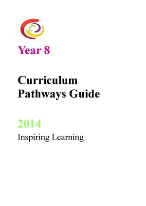 Year 8 Options Booklet