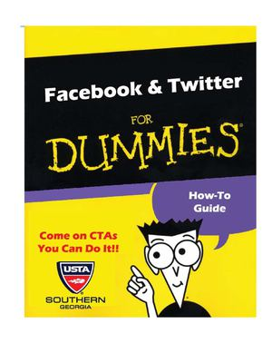 Facebook and Twitter for DUMMIES
