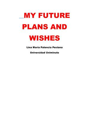 My plans and wishes