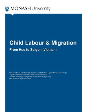 Child Labour Migration, Monash University 2014