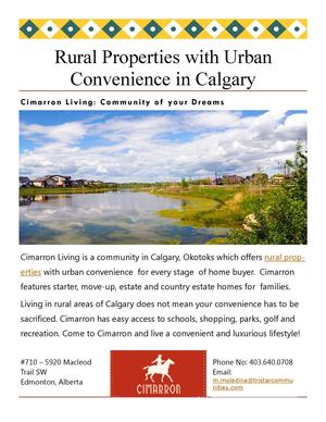 Rural Properties with Urban Convenience in Calgary
