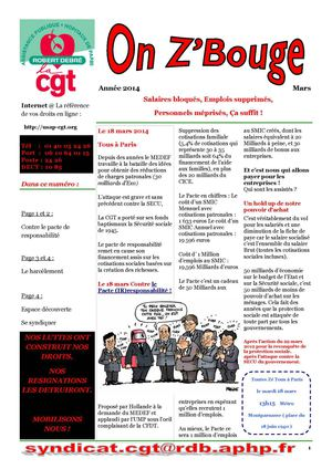 Journal Robert Debré CGT mars 2014