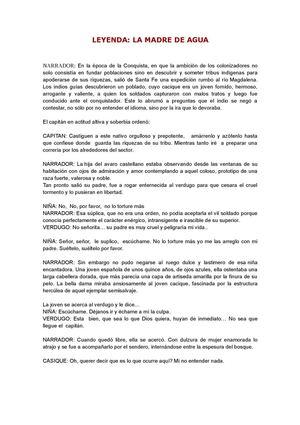 Calaméo - Leyenda la Madre de Agua (Guión)