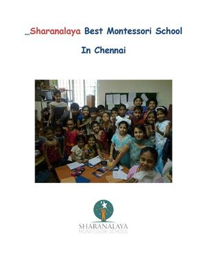 Sharanalaya Best Montessori School in Chennai