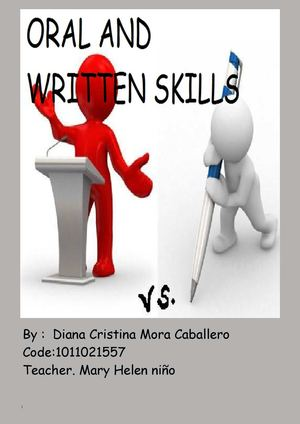 ORAL AND WRITTEN SKILLS