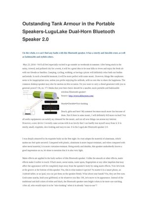 Calaméo - Best LuguLake Dual-Horn Bluetooth Speaker 2 0