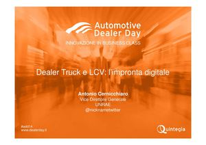 Intervento di Antonio Cercnicchiaro al Dealer Day 2014