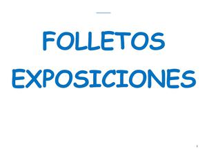 FOLLETOS EXPOSICIONES