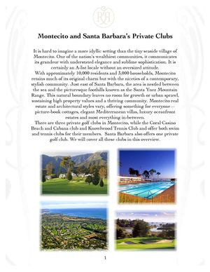 Montecito and Santa Barbara's Private Clubs