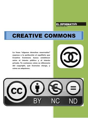 PERIODICO SOBRE CREATIVE COMMONS