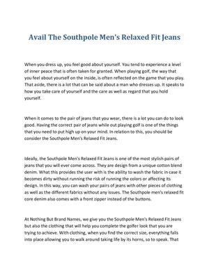Avail The Southpole Men's Relaxed Fit Jeans