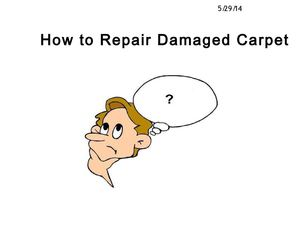 How to Repair a Damaged Carpet