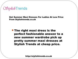Cheap Summer Maxi Dresses | Ladies Clothes | Stylish Trends