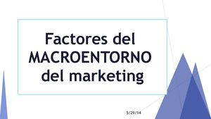 Auditoría del Macroentorno del Marketing