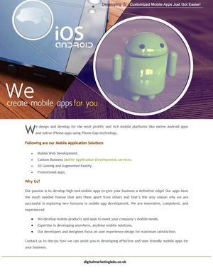 We Create Mobile Apps For You