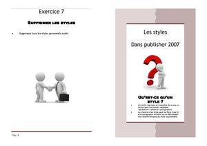 Les styles en Publisher